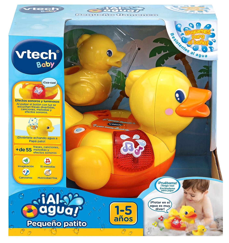 Luces y Canciones. 3480-516122 VTech-/¡Al Agua Peque/ño Patito Juguete electr/ónico para el ba/ño con Voces Sonidos