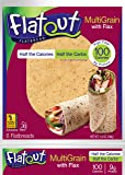FLATOUT Flatbread MULTIGRAIN with FLAX - 100 Calories (1 Pack of 6 Flatbreads)