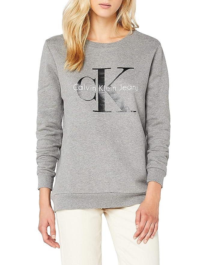 Calvin Klein Crew Neck HWK True Icon, Sudadera para Mujer: Amazon.es: Ropa y accesorios
