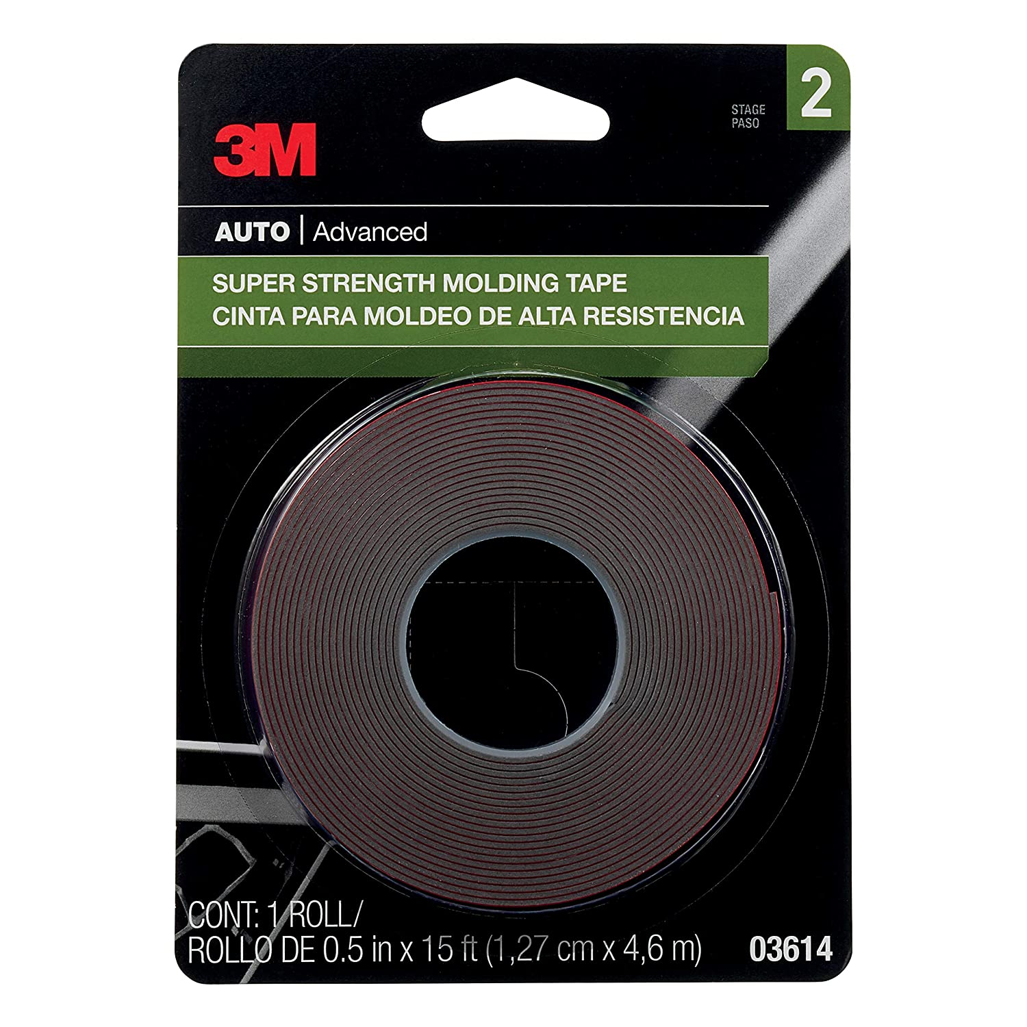 Amazon.com: 3M 03614 Scotch-Mount 1/2 x 15 Molding Tape (2 Pack): Kitchen & Dining