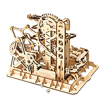 Rowood Wooden Marble Run Tower Coaster
