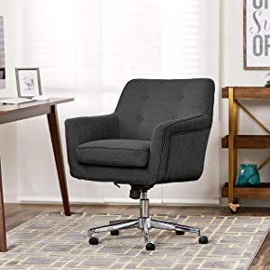 Serta Style Ashland Home Office Chair, Twill Fabric, Graphite