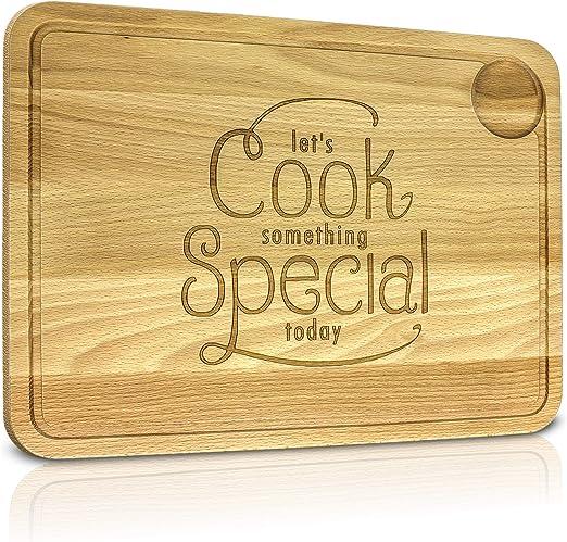 Tabla de cocina de madera de haya para picar con 4 diseños ...