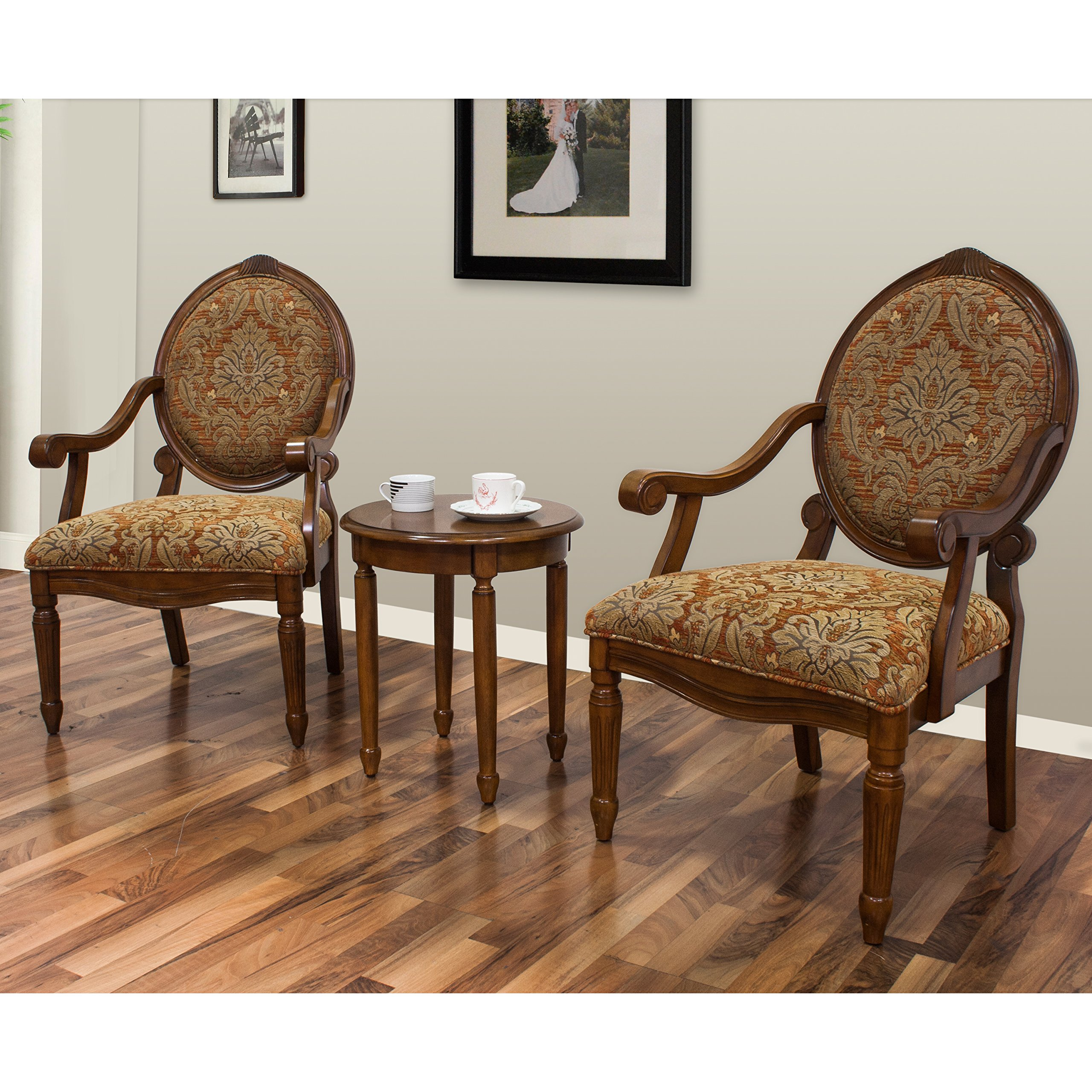 Best Master Furniture Miranda Traditional Living Room Accent Chair & Table Set, by Best Master Furniture