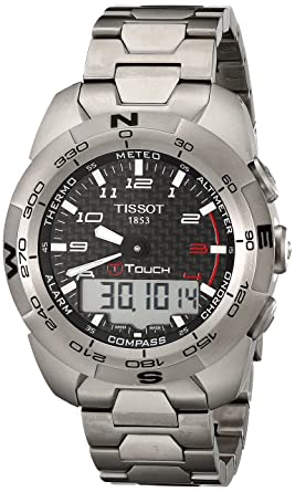 03cfd9a26af Image Unavailable. Image not available for. Color  Tissot Men s  T0134204420200 T-Touch Expert Titanium Watch