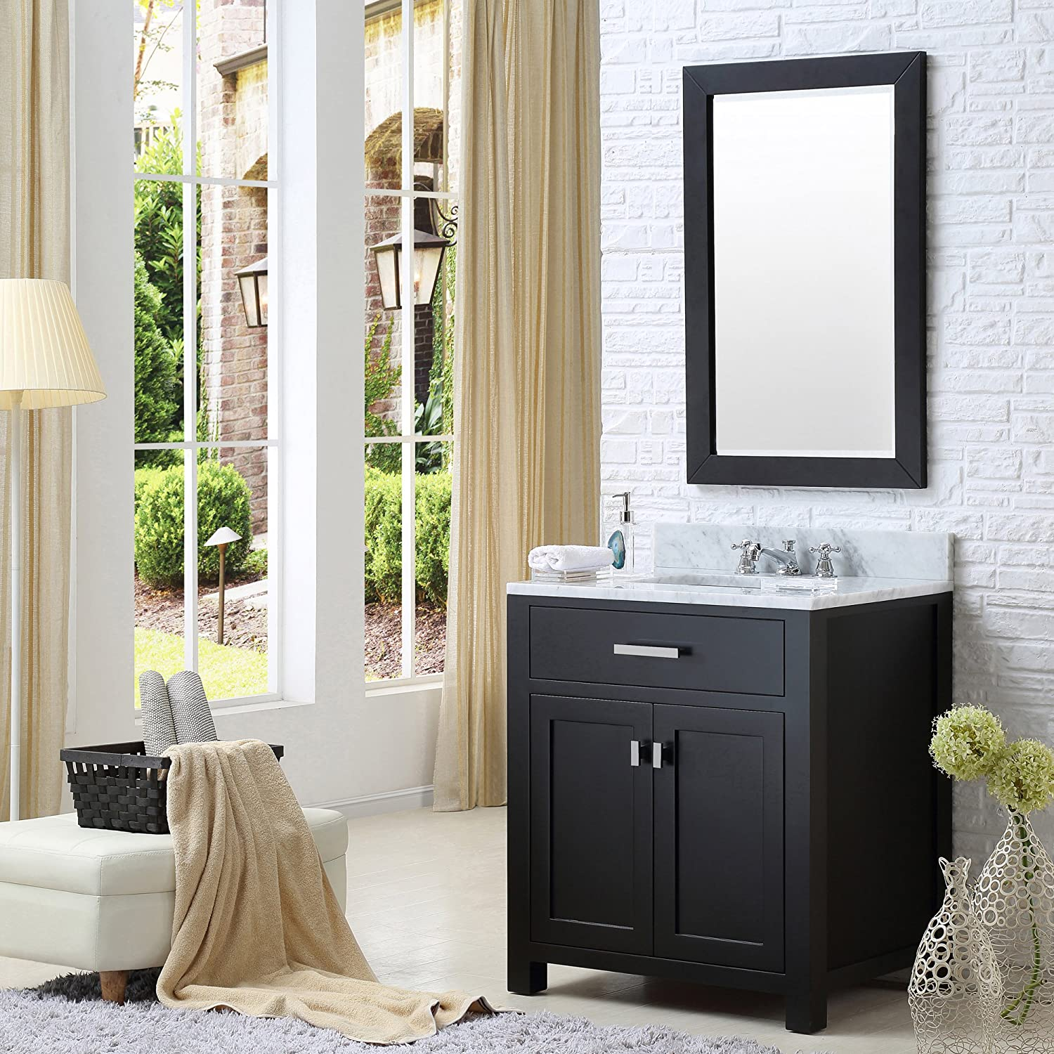 Water Creation 30E Single Sink Bathroom Vanity from the Madison