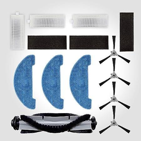 Venga! ST. VG Pezzo di Ricambio per Aspirapolvere Robot RVC 3000, Include 4 Laterali, 1 Spazzola Centrale, 3 Stracci, 3 Kit di Filtrazione, Grigio