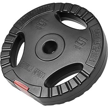15KG Gorilla Sports Vinyl Tri Grip Weight Plate 1.25KG