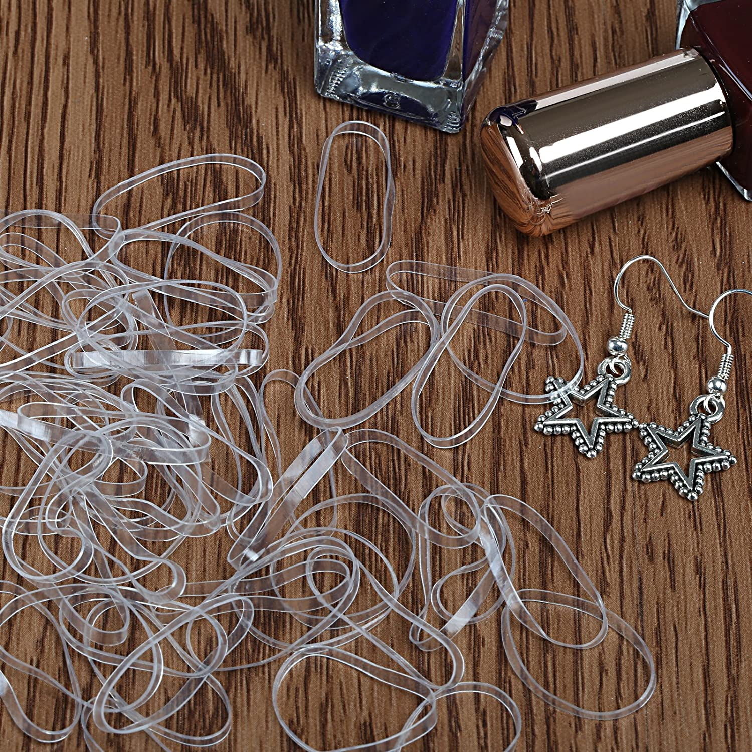 Naler Hair Styling Set, 1000pcs Clear Elastic Rubber Hair Band Hair Tie with Hair Design Styling Tools Accessories DIY