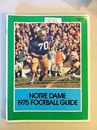 1975 Notre Dame Football Guide 96 Pages Features Player Profiles Stats Photos From The Red Schoendienst Collection Near Mint At Amazon S Sports Collectibles Store