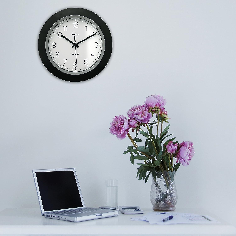 Amazon.com: Equity by La Crosse 40222B 10 Inch Auto Set wall clock ...
