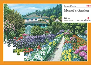 Active Minds 63 Piece Monet's Garden Jigsaw Puzzle | Specialist Alzheimer's/Dementia Activities & Games