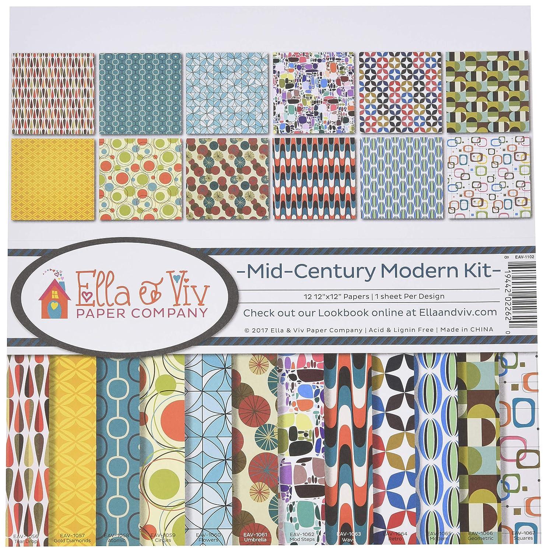 Ella /& Viv by Reminisce Mid Century Modern Scrapbook Collection Kit