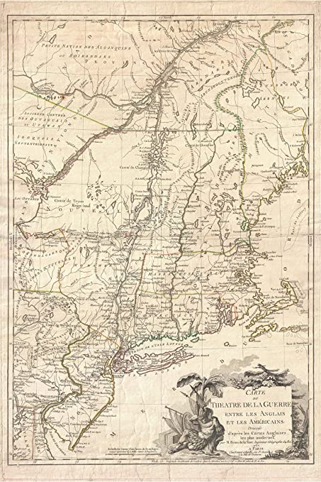 Revolutionary War Map Of New York.Amazon Com History Prints New York And New England Revolutionary