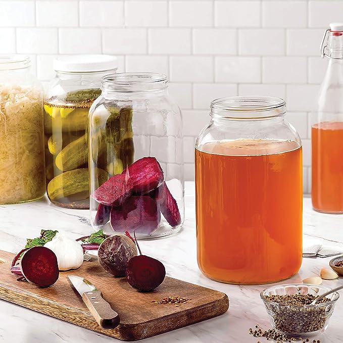 Amazon.com: Paksh - Tarro de vidrio de 1 galón con boca ...