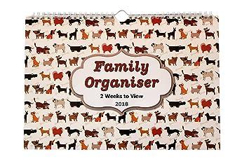 2018 family calendar organiser planner for up to 5 people 2 week