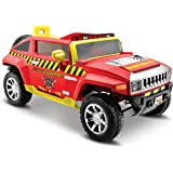 Kid Motorz Fire Engine Hummer HX 12 V Electric One Seater with Realistic Emergency Lights, sirens & Working doors Ride On