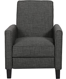 Great Deal Furniture Lucas Grey Recliner Club Chair