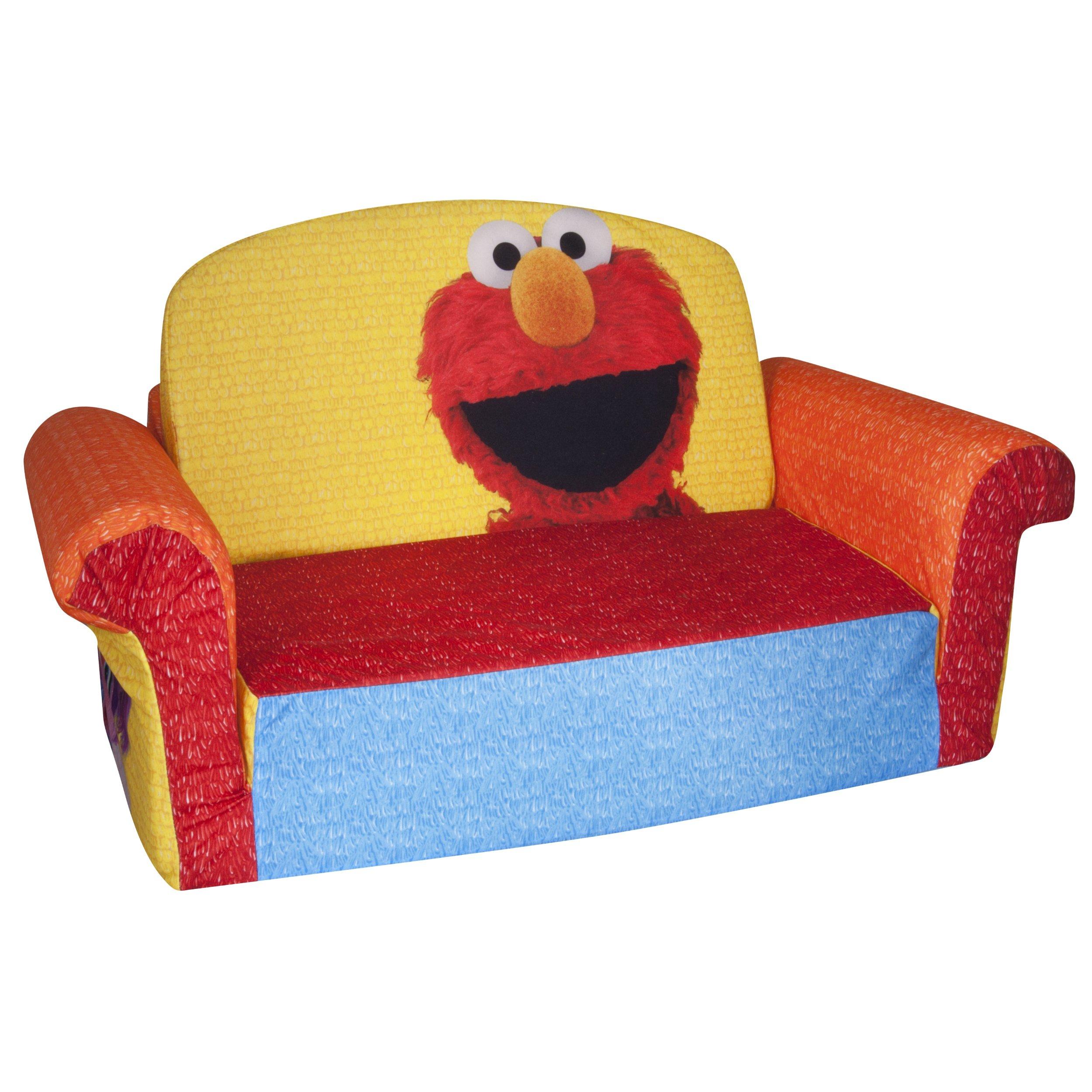 Marshmallow Furniture, Children's 2 in 1 Flip Open Foam Sofa, Sesame Street's Elmo/Sesame, by Spin Master by Marshmallow Furniture (Image #2)