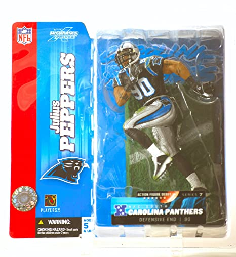 89093354c Image Unavailable. Image not available for. Color  Julius Peppers  90 Blue  Jersey Uniform Carolina Panthers McFarlane NFL