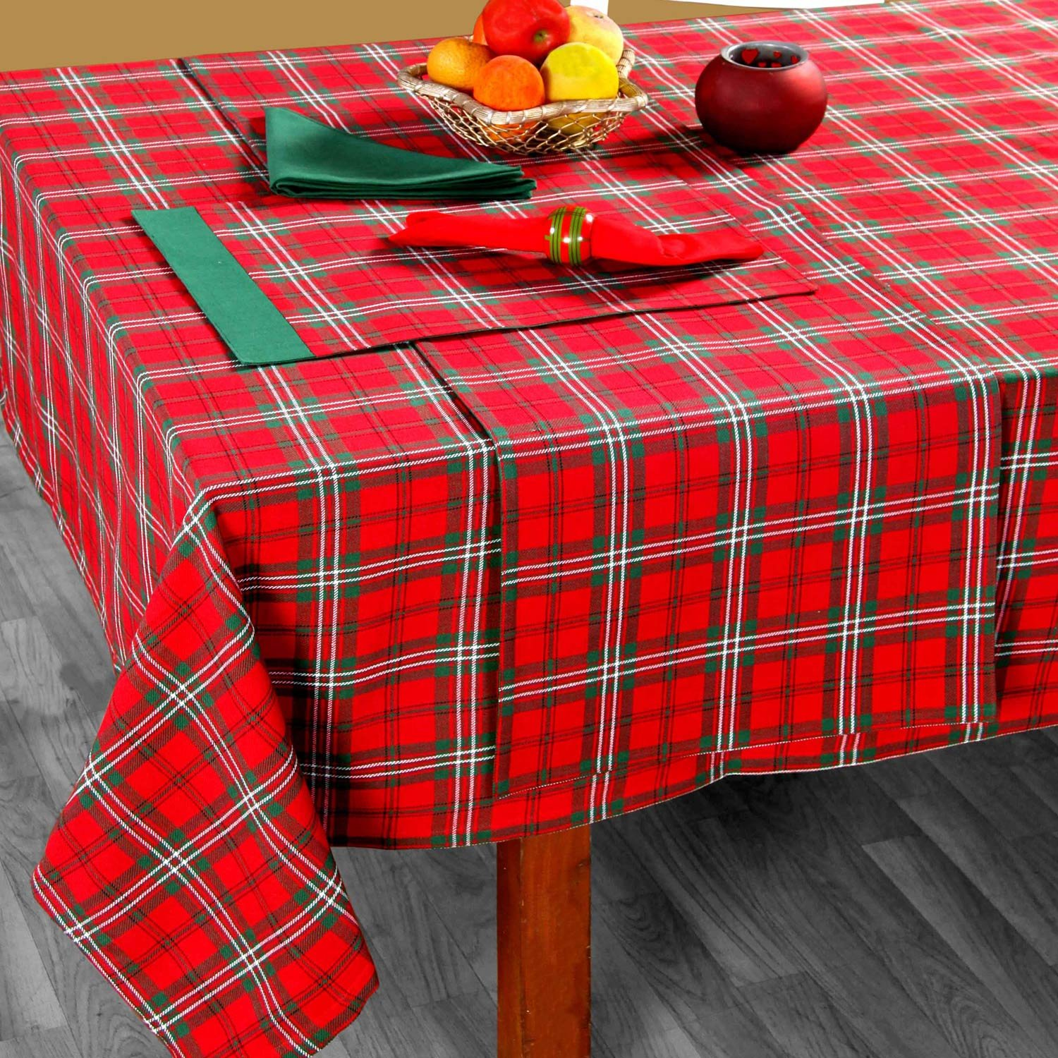 Nice 100% Cotton Christmas Prince Edward Tartan Tablecloth, 54 X 70:  Amazon.co.uk: Kitchen U0026 Home