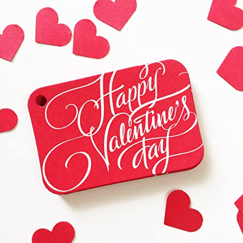 Amazon Com 36 Red Valentine Gift Tags Happy Valentine S Day Gift
