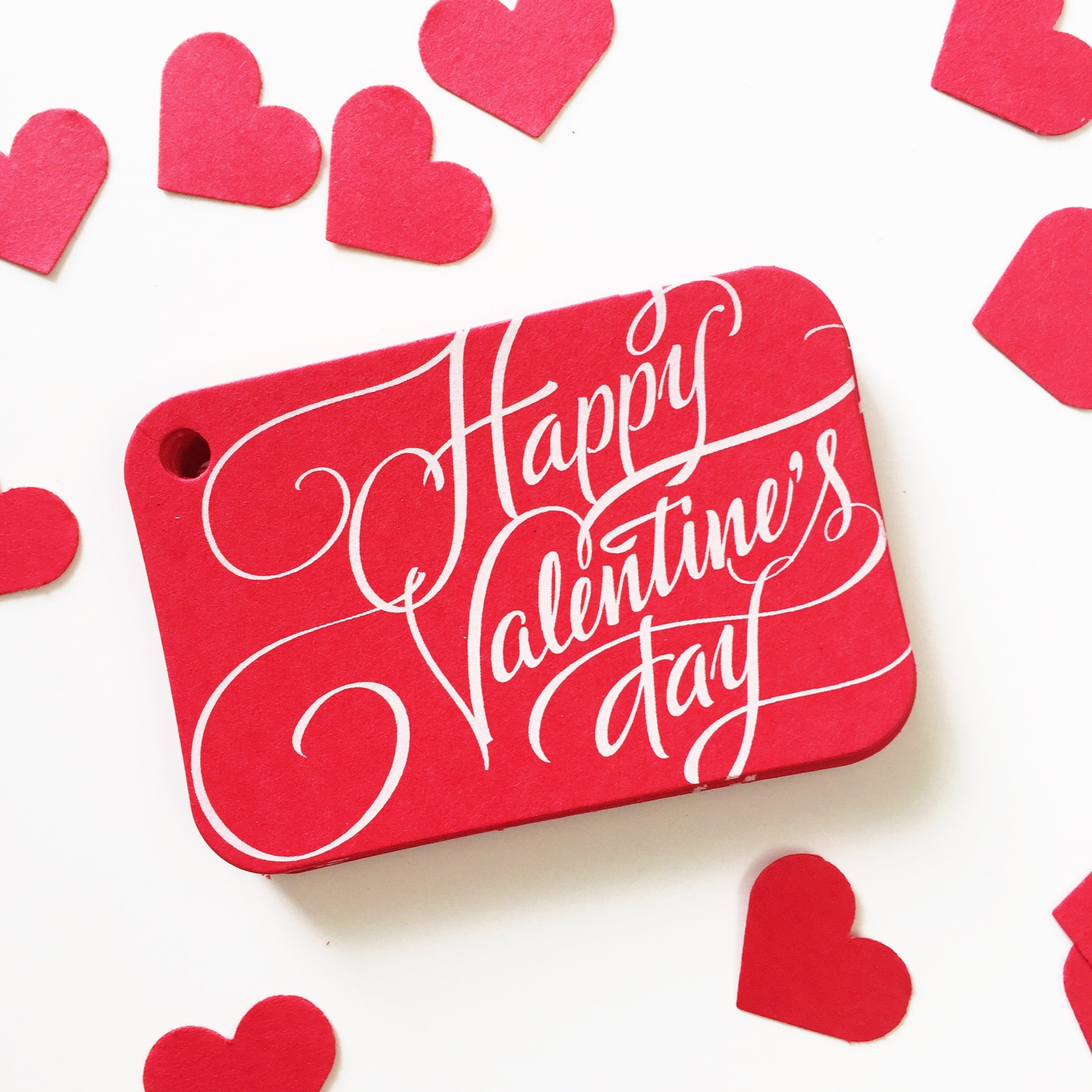 36 Red Valentine Gift Tags, Happy Valentine's Day Gift Wrap Tags (RR-326-RD)