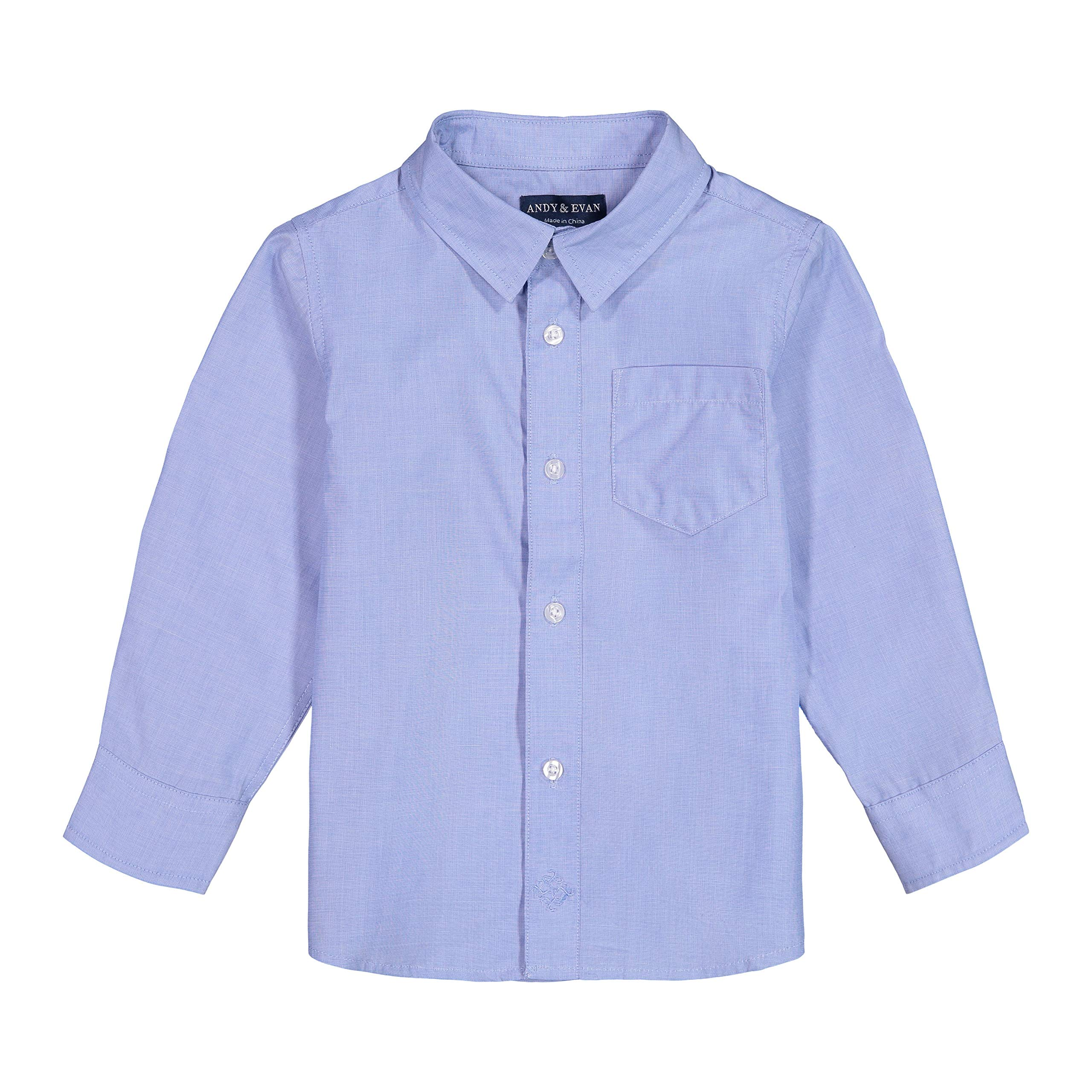 Andy & Evan Toddler & Boys' Classic Long Sleeve Button Down Shirt by Andy & Evan