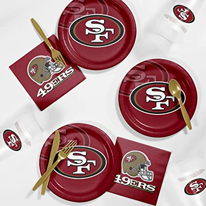 online store 3e2c9 184ab Amazon.com: Creative Converting San Francisco 49ers ...