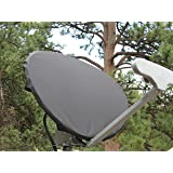 amazon com black satellite dish cover snow and ice protection