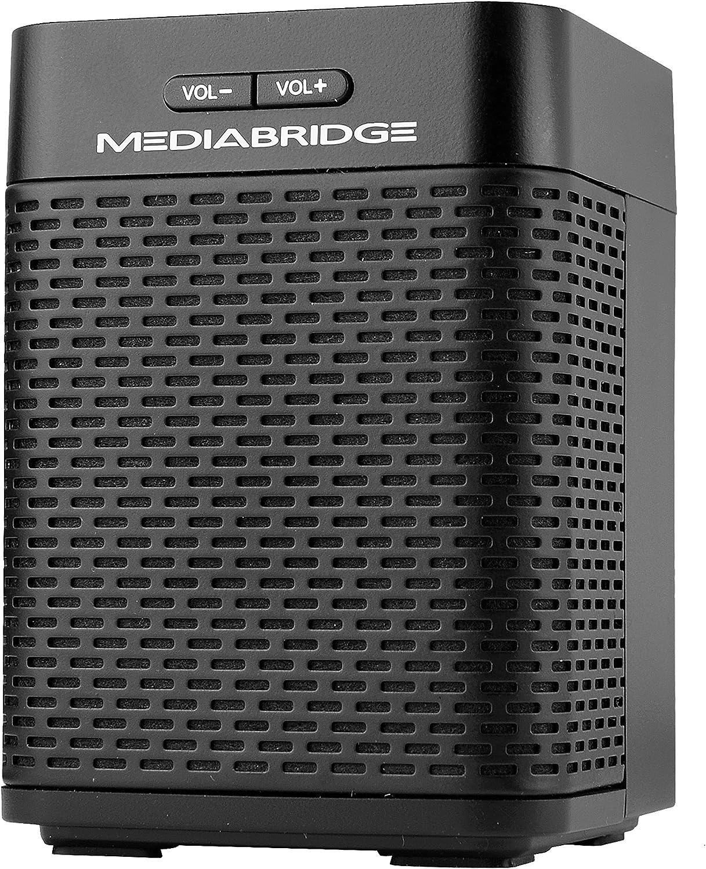 Mediabridge Forte Portable Bluetooth Speaker with Powered Rear-Firing Subwoofer - Wireless Speaker with Rechargeable Battery - (Part# BTS-1B)