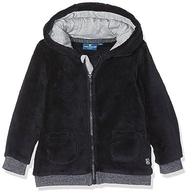 TOM TAILOR Kids Baby-Jungen Sweatshirt Teddy Fleece Jacket, Blau (Knitted  Navy 6800 232318bcf9
