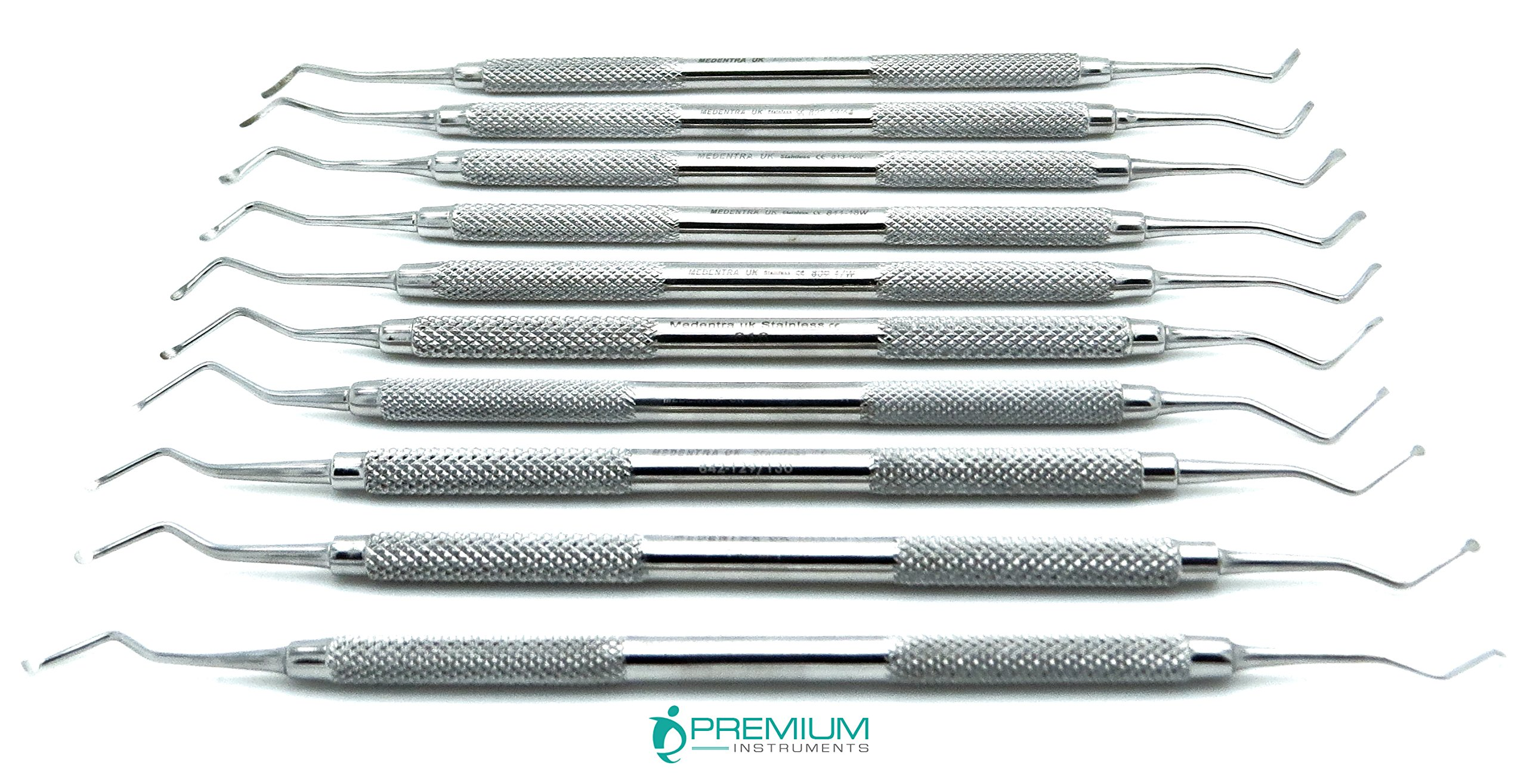 Excavators Double Ended Restorative Endodontic Stainless Steel Dental Instruments Set of 10 by Premium Instruments