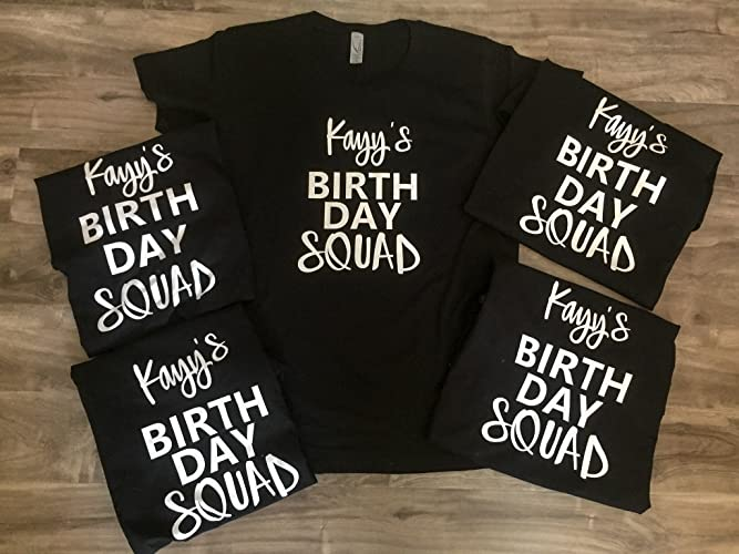 365ac731c Amazon.com: Birthday squad tees: Handmade