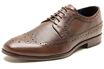 3174baa9271 Red Tape Nappa Brown Mens Lace Up Brogue Shoes