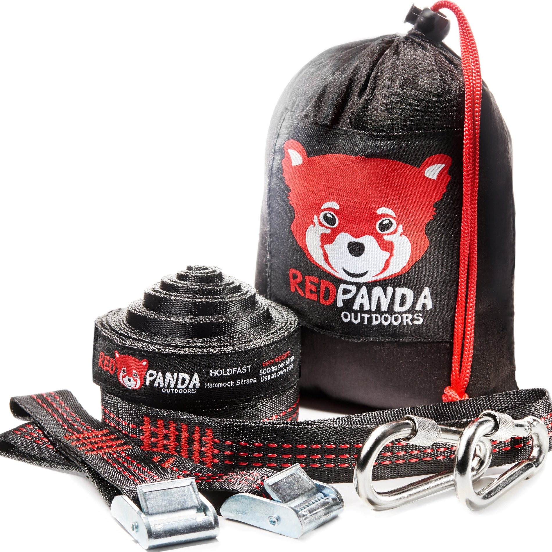 RED PANDA Outdoors Top-Notch Hammock Tree Straps - The Easiest Way to Hang Any Hammock | Strong & Lightweight Suspension System 2000+ LB | 25 FT Long - Strap Yourselves in, Folks!