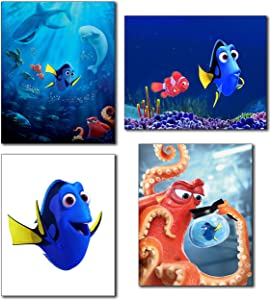 Finding Dory Wall Art Photos - Set of 4 (8 inches x 10 inches) Poster Prints