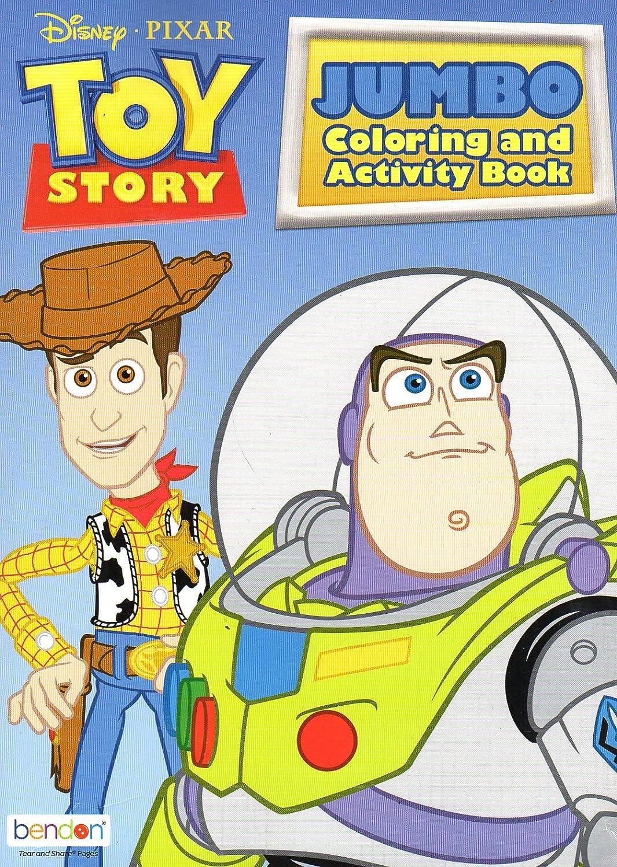 Amazon Com Disney Toy Story Jumbo Coloring Activity Book Toys Games