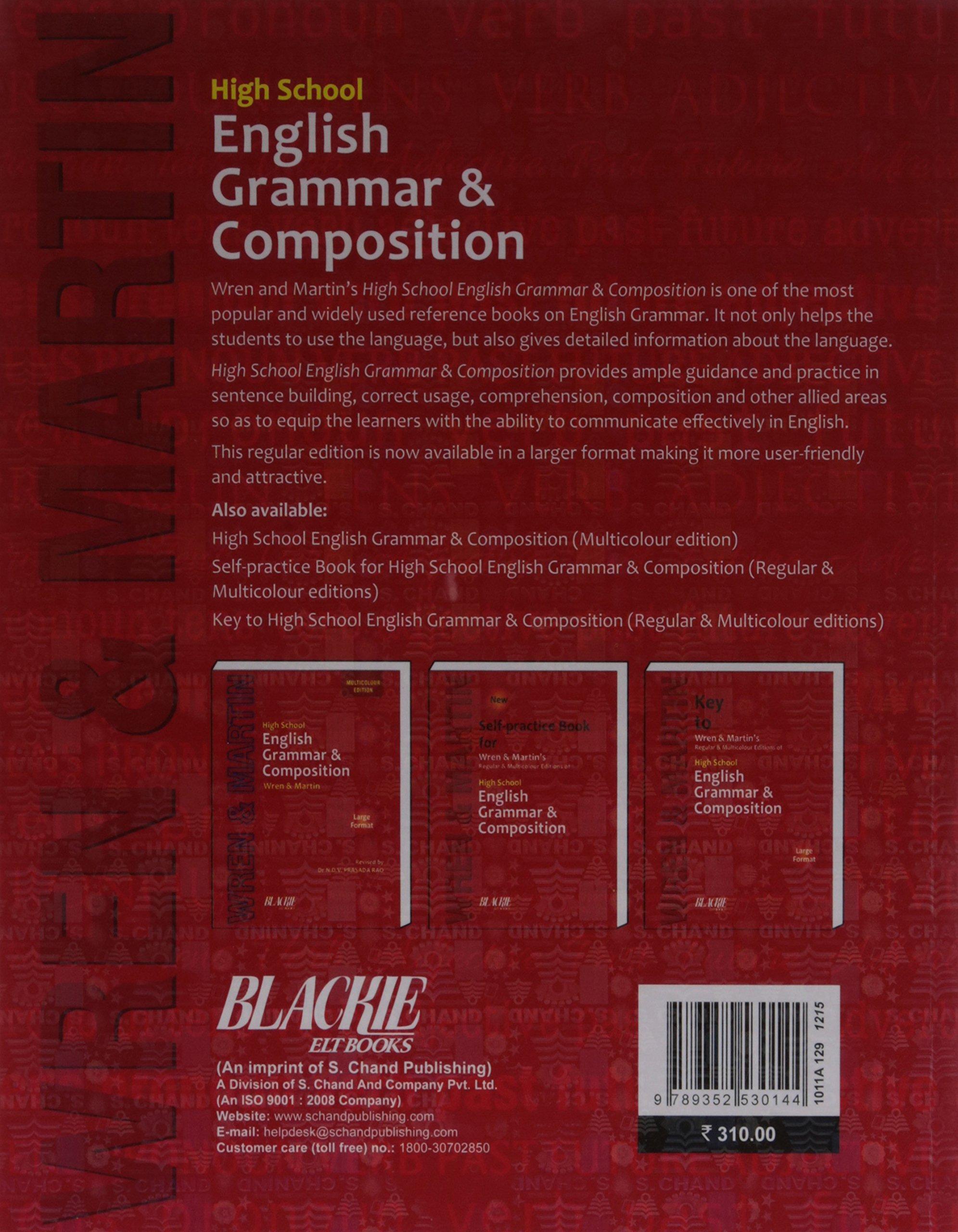 High school english grammar and composition book regular edition high school english grammar and composition book regular edition amazon dvprasadarao n ndv prasada rao books fandeluxe Choice Image