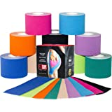 GO2 Kinesiology Tape 2' Uncut Roll Athletic K Tape for Knee Ankle Heel Shoulder Neck Back Hamstring Kinesio Therapy Pain Relief Recovery Sports Tape