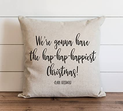 tina r haphaphappiest christmas 18x18 inch pillow cover christmas vacation clark griswold holiday funny gift