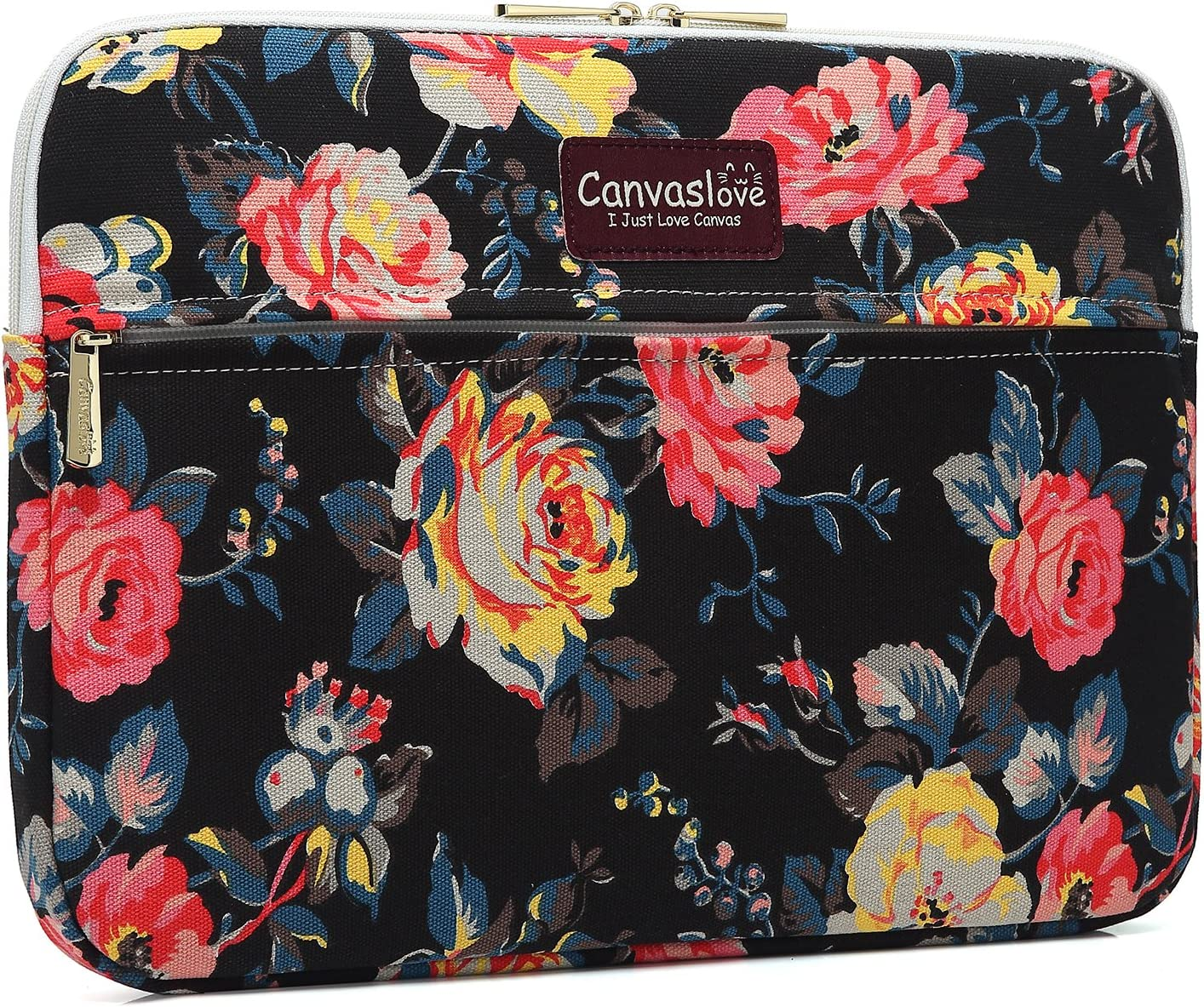 Canvaslove 13 inch Canvas Laptop Sleeve with Pocket 13 inch 13.3 inch Laptop case