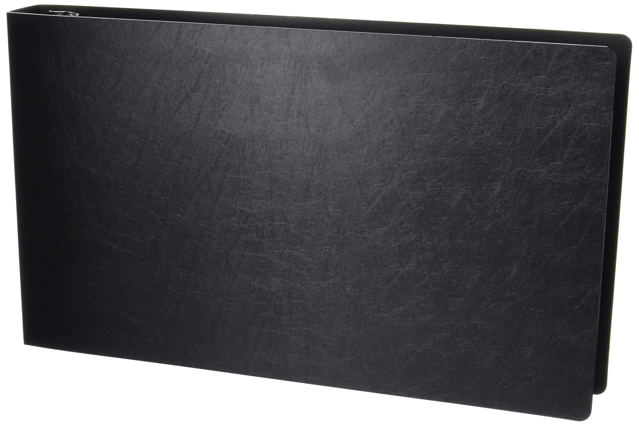 11x17 1-1/2'' Angle-D Ring, Black Poly Binder (516610)