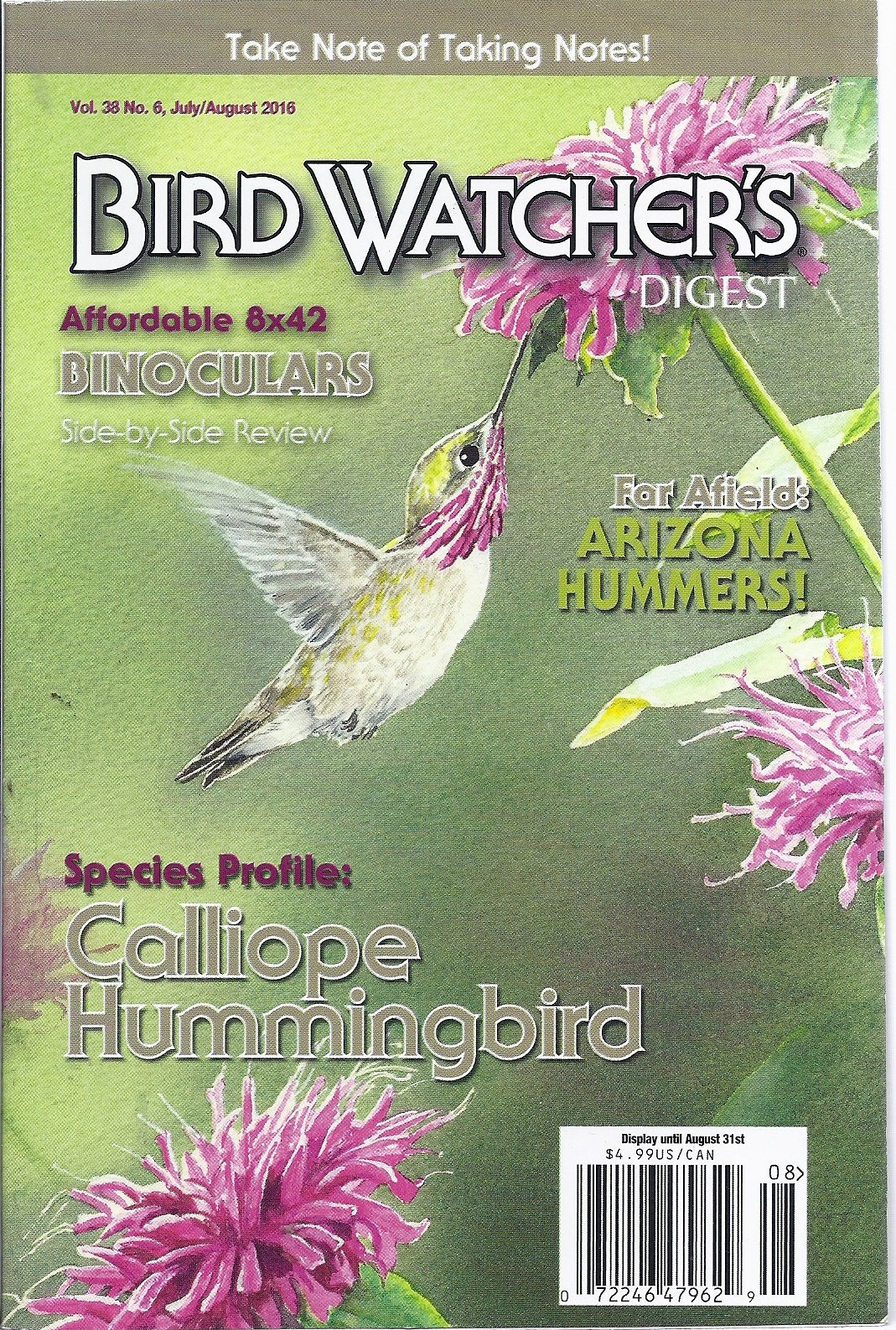Bird Watcher's Digest (July/August 2016 - Special Profile: Calliope Hummingbird) PDF