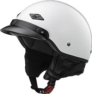LS2 Helmets Unisex-Adult Half-Size-Helmet-Style Bagger Helmet (Pearl