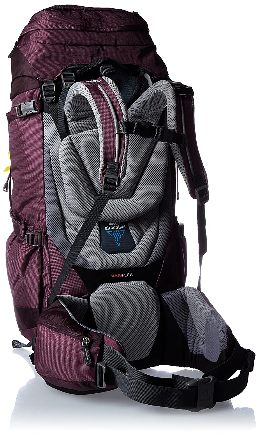 8ac24fd1c57 DEUTER AIRCONTACT 50 + 10 SL BACKPACK (BLACKBERRY/AUBERGINE), External  Frame Backpacks - Amazon Canada
