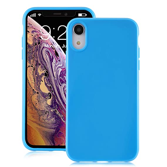 new product f2f2a dffb8 for iPhone XR Blue Case, technext020 Shockproof Ultra Slim Fit Silicone  iPhone 10R Cover TPU Soft Gel Rubber Cover Shock Resistance Protective Back  ...