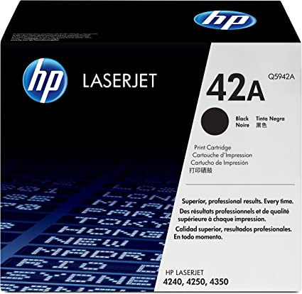 HP 42A Q5942A Black Toner Cartridge NEXT DAY DELIVERY