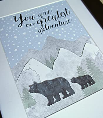 You Are Our Greatest Adventure Nursery Decor, Baby Boy Woodland Nursery Art Print