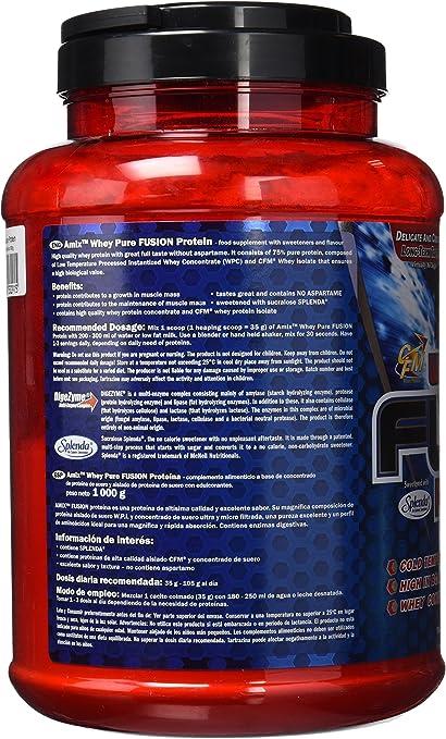 AMIX Whey Pure Fusion, Proteínas, Vainilla, 1000 g